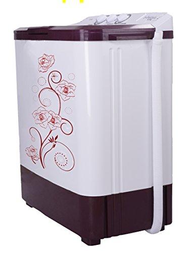 Noble Skiodo 68WMVM Twin Tub Eco Wash Semi-automatic Top-loading Washing Machine (6.8 Kg, Burgundy and Grey)