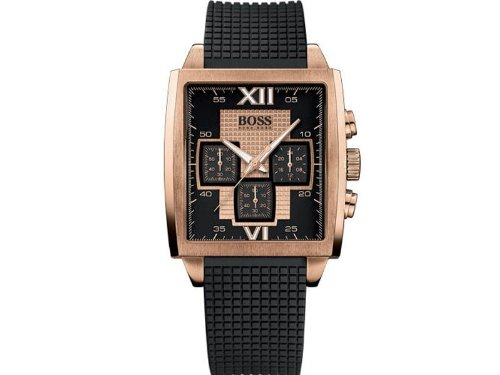 Hugo Boss 1512444 Stainless Steel Case Black Rubber Mineral Women's Watch
