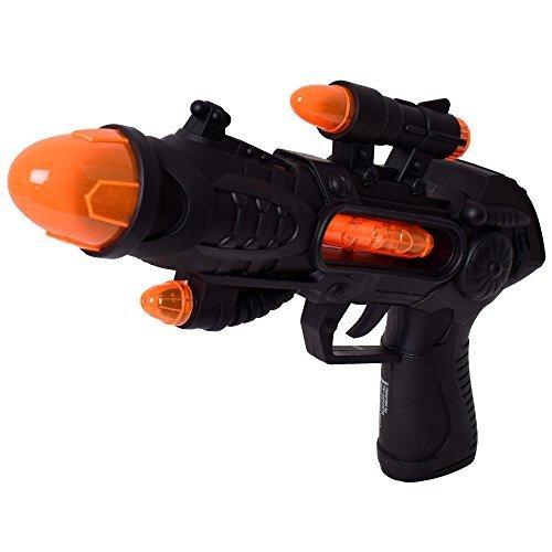 tevenger Giocattolo Bambino Pistola Fucile Pistola Laser Luci Suoni Effetti Laser Space Gun Nero Argento - Nero