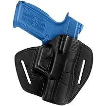 VlaMiTeX - Pistolera de extracción rápida para competiciones en asociaciones de tiro, 100% de cuero, para FN FNS-9 FNX-9 FNX-40 FNX-45