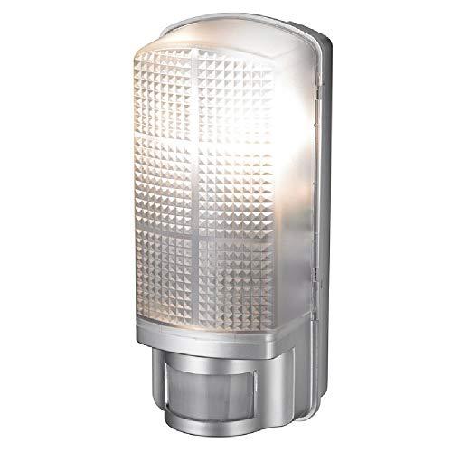 OBI Wandleuchte CASSOLA silber E27 IP44 PIR Sensor 805037
