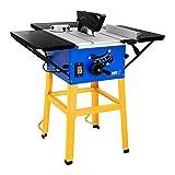MSW Tischkreissäge Professionell C-SAW254T (2.875 W, 4.500 U/min, erweiterbare Arbeitsfläche, verstellbare Schnitttiefe bis 75 mm, Staubabzugsystem, Überlastungsschutz)