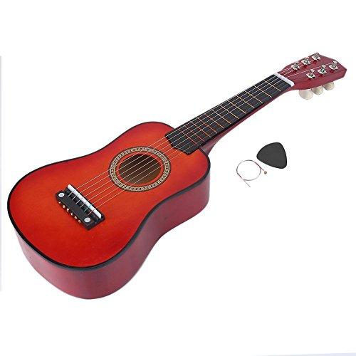 Dilwe 21 Pulgadas Guitarra, Educación Musical Juguete Regalo para Niños(Rojo marrón)