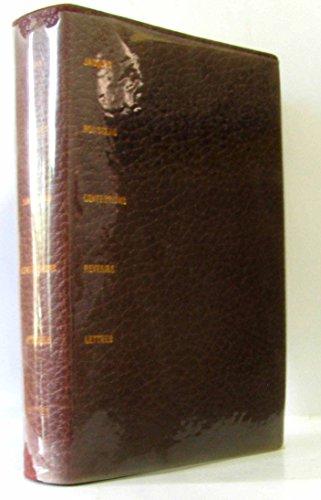 Ecrits autobiographiques : confessions, rveries, lettres - introduction et notes de jean massin