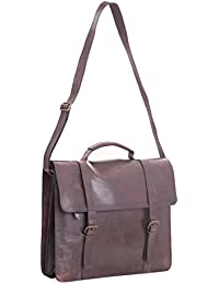 Craft Play Handicraft Dark Brown Color Leather Laptop Bag