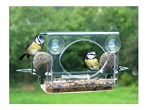 GLASS/WINDOW SUCTION BIRD FEEDER- ROOF/FAT BALL HOLDERS