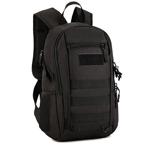 Imagen de huntvp táctical  militar  asalto  gran bolsa de hombro impermeable 12l para las actividades aire libre, senderismo, caza ,viajar, color negro