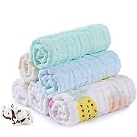 Muselina bebe algodon, Toallas suaves de muselina para bebés, varias funciones (10 paquete B)