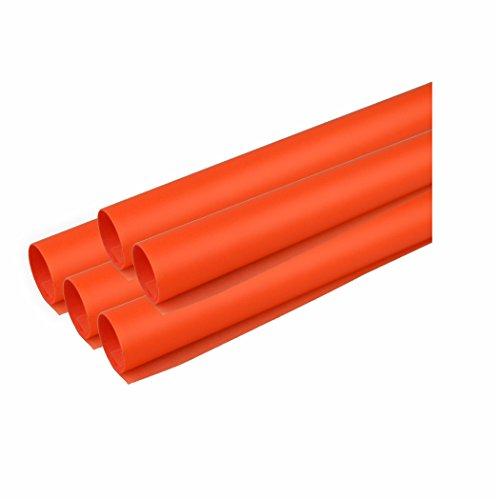 Creleo 791817 Transparentpapier, 5 Rollen, 115 g/m², 50.5 x 70 cm, orange