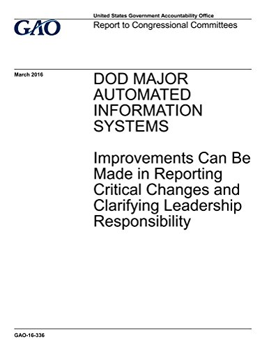 DOD MAJOR AUTOMATED INFORMATION SYSTEMS: Improvements Can Be Made in Reporting Critical Changes and Clarifying Leadership (English Edition)