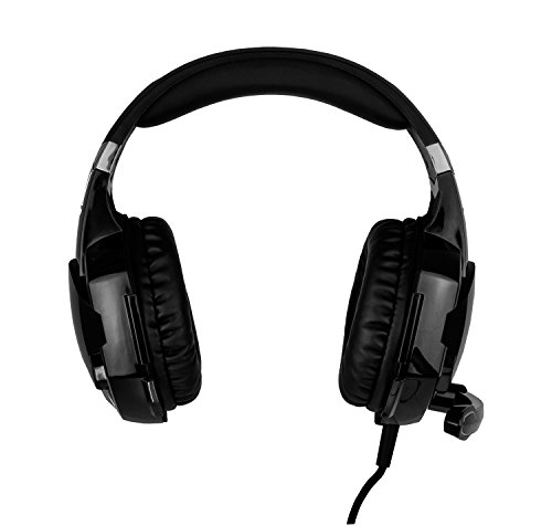 Krom Kyus - Auriculares Micro Gaming, Color Negro