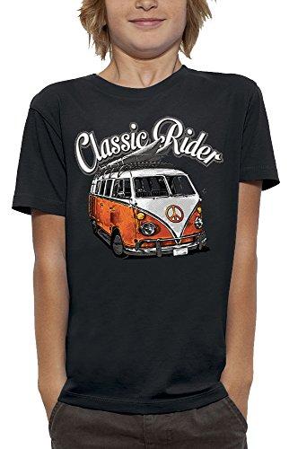 PIXEL EVOLUTION T-Shirt Classic Rider Enfant - Taille 7/8 Ans - Noir