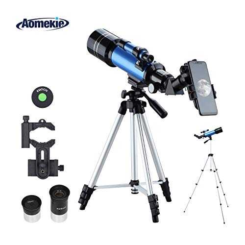 Aomekie Telescopio Refractor Astronomico 70/400 Telescopio