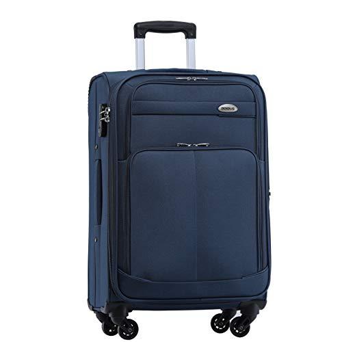 BEIBYE 4 Rollen Reisekoffer 3tlg.Stoffkoffer Handgepäck Kindergepäck...