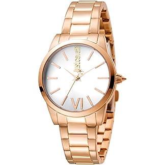 Just Cavalli Reloj Analógico para Mujer de Cuarzo con Correa en Acero Inoxidable JC1L010M0125