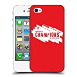 Head Case Designs Officiel Liverpool Football Club Europe Six Fois 4 2019 Champions Coque Dure pour l'arrière Compatible avec iPhone 4 / iPhone 4S