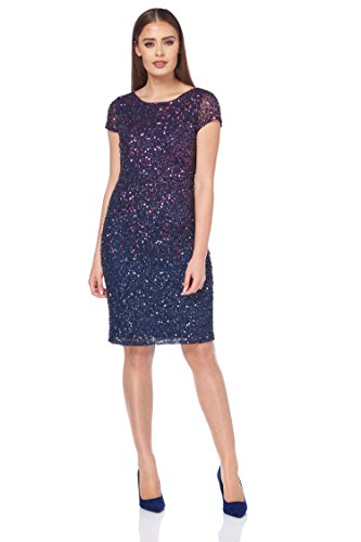 Roman Originals Women's Ombre All Over Sequin Dress - Ladies Sparkle Glitter Dresses - Purple
