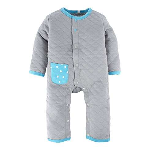 BIG ELEPHANT Unisex-Baby 1 Stück Snap up warme Langarm-Spielanzug Pyjama O35 Big Snap
