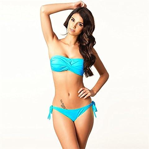 O-C - Maillot de bain deux pièces - Femme bleu bleu S,M,L,XL