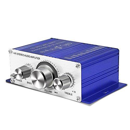 Mini HiFi Digital Verstärker, Auto KFZ MP3 Stereo Audio Endstufe Amplifier Verstärker Car Audio Amplifier AMP Roller Booster Radio MP3 Verstärker MP3 für Auto KFZ PKW Motor CD DVD
