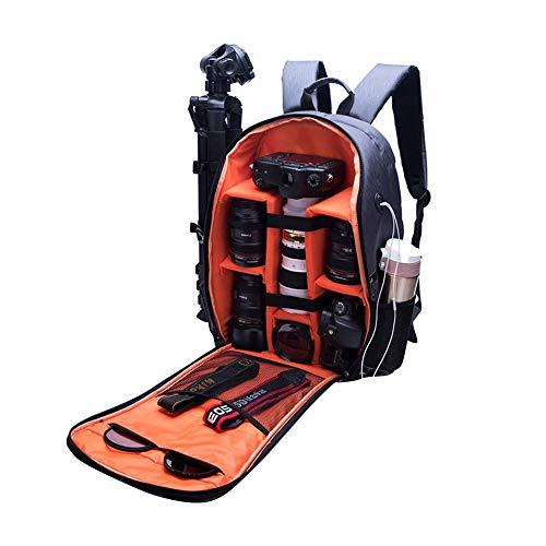 XHXseller Faltbarer digitaler Fotorucksack, wasserdicht, Diebstahlschutz, SLR-Kameratasche, Schulter-Computer-Rucksack, faltbar, für den Außenbereich, tragbare Kamera/Objektiv/Stativ