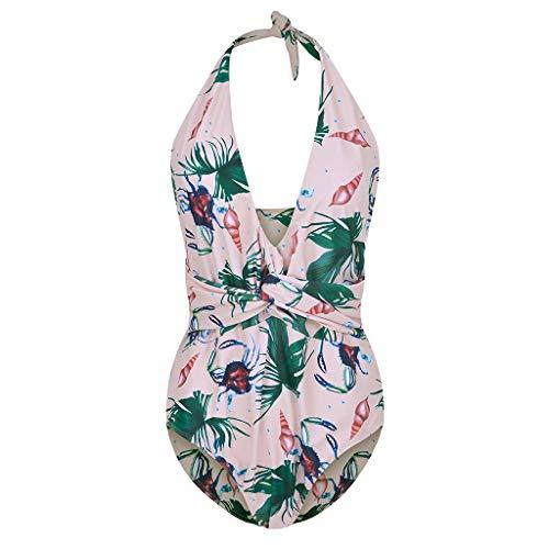 AHAYAKU Summer Damen Plus Size Einteiliger Badeanzug Mode Bademode Beachwear ()