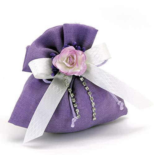 Alice's decorations bomboniere fai da te sacchettino in cotone confezione da 20 pezzi