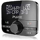 Pure Highway 600 In-Car-Audioadapter (DAB/DAB+ Digitalradio mit Bluetooth, Go Button, Siri und Google Assitant, Freisprechfunktion, Spotify und 20 Senderspeicherplätze) Schwarz