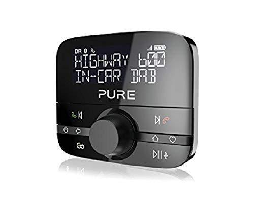 Pure Highway 600 In-Car-Audioadapter (DAB/DAB+ Digitalradio mit Bluetooth, Go Button, Siri und Google Assitant, Freisprechfunktion, Spotify und 20 Senderspeicherplätze), Schwarz