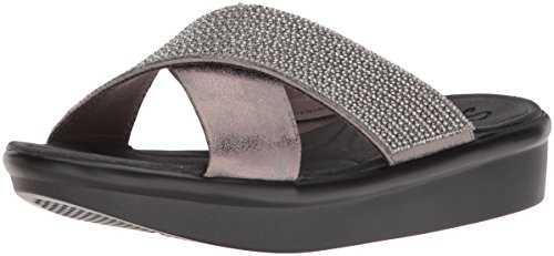 Skechers Women's Bumblers-Summer Scorcher Slide Sandal, Metallic