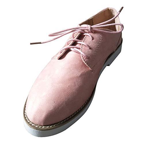 BaZhaHei Damen Schuhe Mode Frauen Runde Kappe einfarbig Knöchel flach Wildleder Casual Schnürschuhe Sportschuhe Flache Stiefel Schlupfstiefel Schuhe Boots