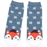 SUPVOX Calcetines de Navidad Copo de Nieve y ovejas Patrón Invierno Algodón Calcetines Fiesta de Navidad Regalo para Mujeres niñas (Verde)