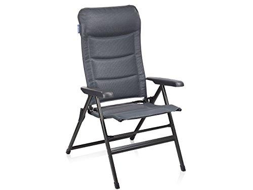 Campingstuhl / Liegestuhl Napoli XL mit Fußablage, in 7 Positionen verstellbar, Hochlehner mit Fußstütze