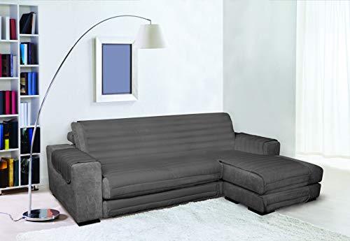 Trendy Elegant Copri sofá Acolchado, Gris Oscuro, 290cm