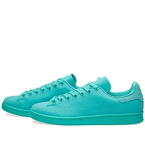 adidas Originals Men's Stan Smith Adicolor Fashion Sneaker, Shock Mint/Shock Mint/Shock Mint, 13.5 M US -