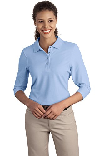 port-authority-ladies-silk-touch-3-4-sleeve-sport-shirt-l562