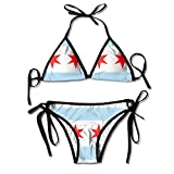 Chicago Flag Women's Fashion Sexy Beach Swimsuit One Size