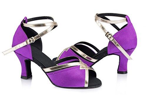 TDA - Strap alla caviglia donna 7cm Heel Purple