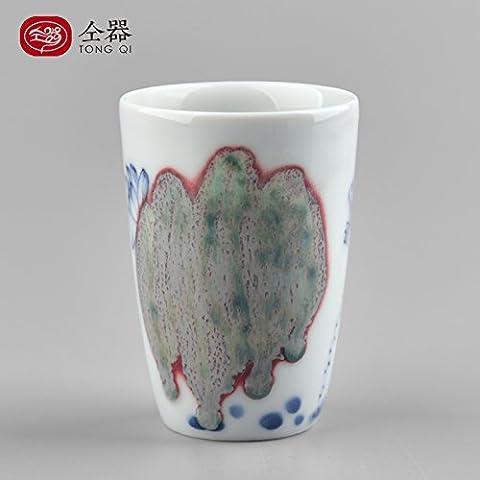 peint à la main pierres agates à thé en porcelaine et Coffeecup en céramique Grande et tasses à café Tasses à thé de voyage pour bureau et la maison b