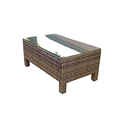 Oseasons® Morocco Rattan Rectangular Coffee Table in Light Brown produced by Oseasons® - best deals