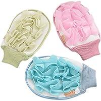 Healifty Baby-Duschschwamm 3pcs Mesh Bad Schwamm Pads Dusche Hocker Körper zurück Scrubber Mesh Hocker (Farbe... preisvergleich bei billige-tabletten.eu