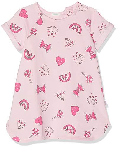 etton Baby-Mädchen Dress Kleid, Pink (Rosa/All/Over 88j), One Size (Herstellergröße: 90) ()