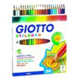 Giotto Stilnovo Pastels Multicolores en Trousse 24 Couleurs