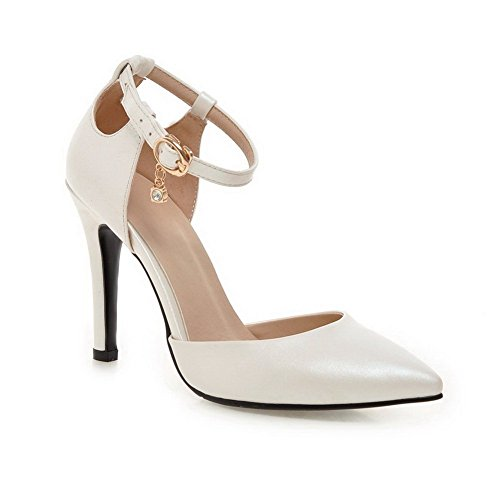 Adee Femme High-Heels antidérapante en polyuréthane Pompes Chaussures Blanc - blanc