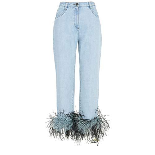 Prada Femme GFP3771P8VF0V3N Bleu Claire Denim Jeans Prada