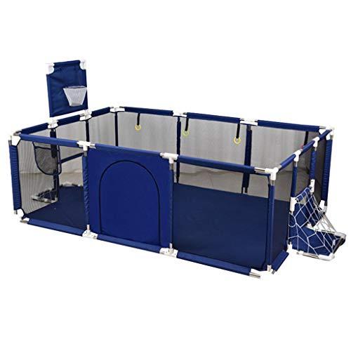 CFC- Laufgitter - ställe Baby-Sicherheitszaun Laufstall-Zelt-Herd-Tor-Kinder drehen Drehlaufstall mit Sicherheitsgitter für Kinderspielsicht und Reißverschluss-Tür (Blau und rot) -