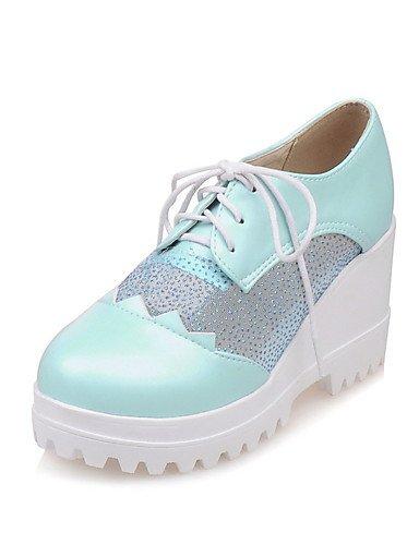 WSS 2016 Chaussures Femme-Extérieure / Bureau & Travail / Habillé-Bleu / Rose / Blanc / Beige-Talon Compensé-Compensées / Creepers / Confort / beige-us6.5-7 / eu37 / uk4.5-5 / cn37