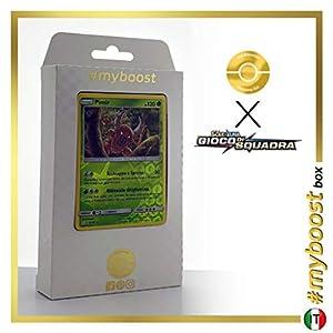 Pinsir 9/181 Holo Reverse - #myboost X Sole E Luna 9 Gioco di Squadra - Box de 10 Cartas Pokémon Italiano