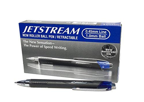 Uni-Ball 9008021 Jetstream Tintenroller mit Druckmechanik 1,0mm F-Spitze 0,7mm Strichbreite 12...