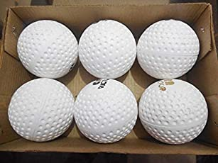 riyaan White Hockey Ball for Practice Pack of 6